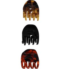 tasha assorted 3-pack jaw hair clips in black/brown/tort at nordstrom