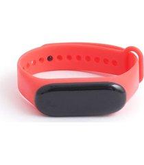 reloj digital rojo color rojo, talla uni