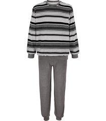 pyjama roger kent zwart/grijs/wit