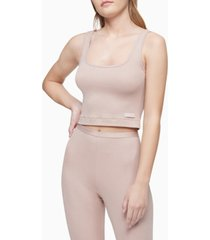 calvin klein pure ribbed cropped tank top