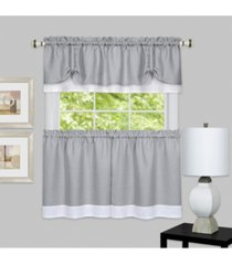 darcy window curtain tier and valance set, 58x24