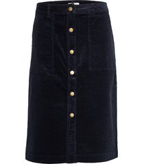 barbour rebecca skirt knälång kjol blå barbour