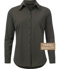 dayz becca blouse army in travel stof groen