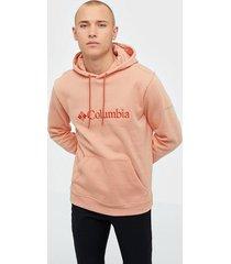 columbia csc basic logo ii hoodie tröjor coral