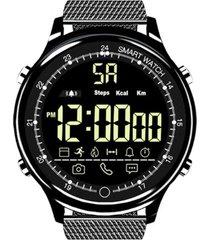 ex28 ip68 impermeable reloj inteligente llamada de soporte recordatori