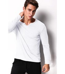 hombres modchok largola mangala camiseta flojo botón