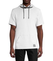 karl lagerfeld paris men's short-sleeve hoodie - black - size s
