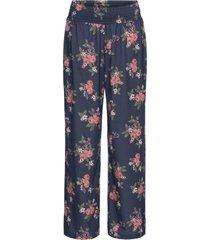 pantaloni a palazzo in jersey a fiori (blu) - bodyflirt