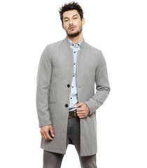 abrigo only & sons maximilian gris - calce regular