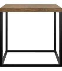 mesa cube m artesano marrom/preta - marrom - dafiti