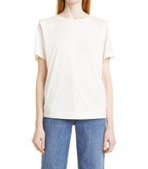 women's ted baker london women's structured shoulder t-shirt, size 4 - white