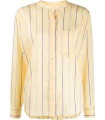 isabel marant étoile satchell collarless shirt - yellow