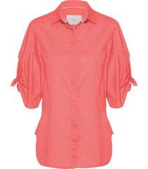 camisa feminina florência - laranja