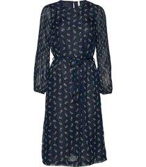 pzgertrud dress knälång klänning blå pulz jeans