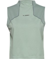 w zupahike tee t-shirts & tops sleeveless grön adidas performance