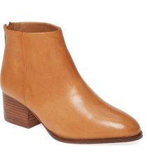 women's seychelles floodplain block heel bootie, size 11 m - brown
