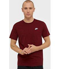 nike sportswear m nsw club tee t-shirts & linnen red