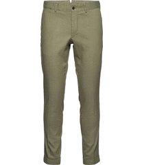 grant linen stretch pants casual broek vrijetijdsbroek groen j. lindeberg