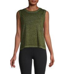 nanette lepore women's twist muscle tank top - charcoal - size xl