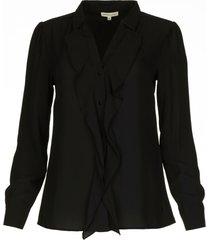blouse met ruches caretta  zwart