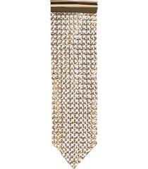 paco rabanne metal mesh earring