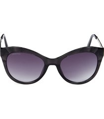 swarovski women's 51mm cat eye sunglasses - black