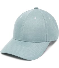 mackintosh panelled varsity cap - blue