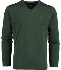 bos bright blue vince v-hals pullover groen rf 21105vi01bo/357 forest