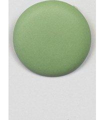 broszka porcelanowa makaronik zielona