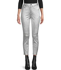 metallic leather pants