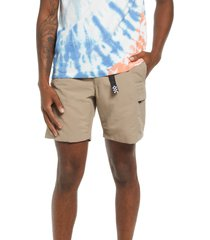 vans men's response shorts, size medium in military khaki at nordstrom