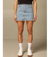 chiara ferragni skirt chiara ferragni denim skirt with flirting eyes bands