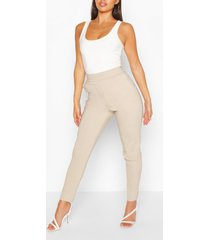 stretch taps toelopende broek, havermout
