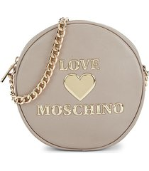 love moschino women's circular crossbody bag - grey