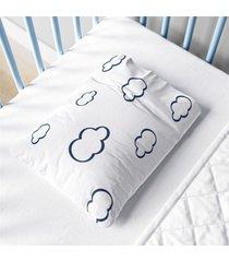 fronha beb㪠menino nuvens azul marinho estampa grã£o de gente azul - azul - dafiti