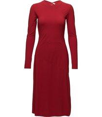 flared seam dress knälång klänning röd filippa k