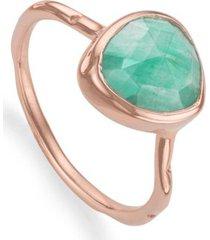 rose gold siren stacking ring amazonite