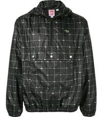 supreme reflective grid jacket - black
