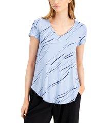 alfani printed v-neck t-shirt, created for macy's