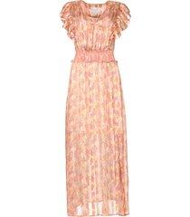 ruches maxi-jurk luscious  roze