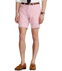 polo ralph lauren men's 9-inch classic-fit seersucker shorts