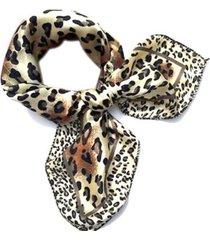 lenço de seda artestore luxo echarpe xale animal print
