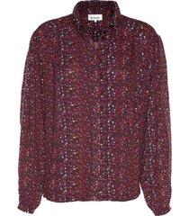 blouse met print molly  rood