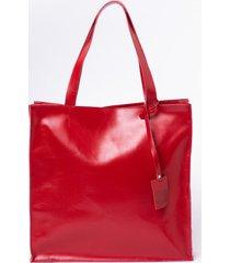 torba aktówka czerwona kaya look