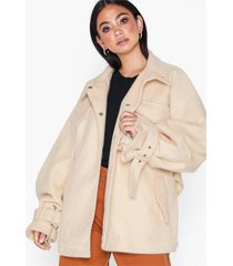 missguided belted utility coat kappor