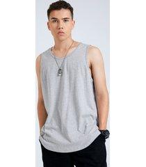 basics hombre 100% algodón super soft redondo cuello camiseta sin mangas