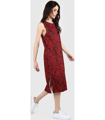 vestido rojo nylon