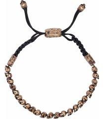 small skull bead adjustable bracelet