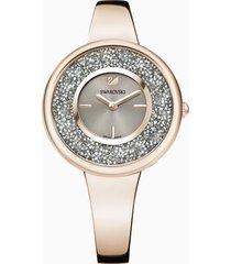 orologio crystalline pure, bracciale di metallo, pvd tonalitã oro champagne