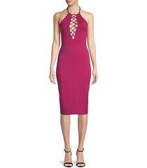 siren lace-up dress